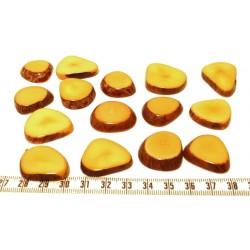 Tagua lame épaisse petite orange x1
