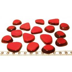 Tagua lame épaisse petite rouge x1