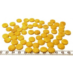 Tagua lentille 12mm jaune x1