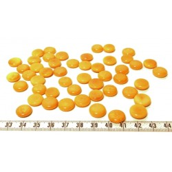 Tagua lentille 12mm orange x1