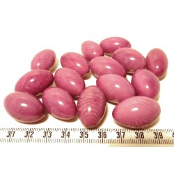 Tagua olive 15mm violet x1