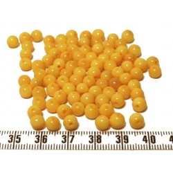 Tagua perle 5mm jaune x1