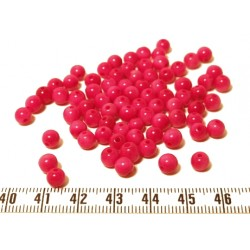 Tagua perle 5mm rose x1