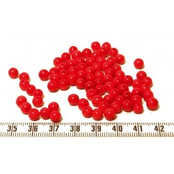 Tagua perle 5mm rouge x1
