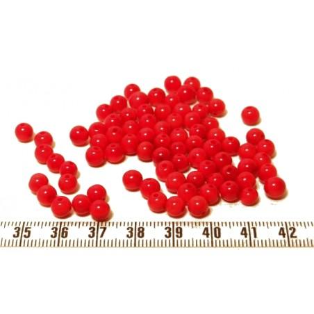 Tagua perle 5mm rouge x1