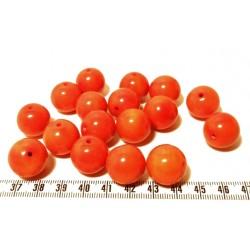Tagua perle 15mm orange x1