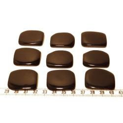 Tagua plaque noir x1