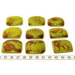 Tagua plaque marbrée vert x1