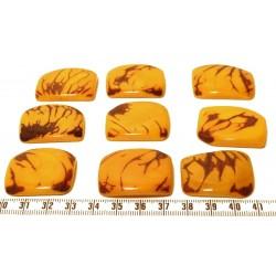Tagua plaque marbrée jaune x1