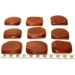 Tagua plaque marbrée marron x1