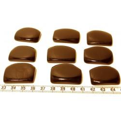 Tagua plaque marbrée noir x1