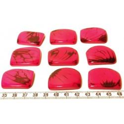 Tagua plaque marbrée rose x1