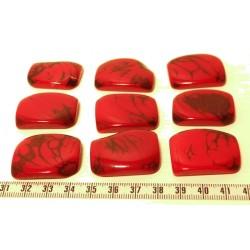 Tagua plaque marbrée rouge x1
