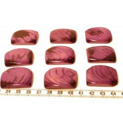 Tagua plaque marbrée violet x1