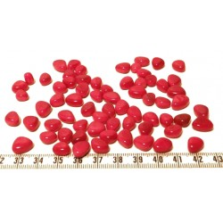 Tagua rocaille rouge x1