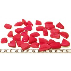 Tagua rocaille grand rose x1