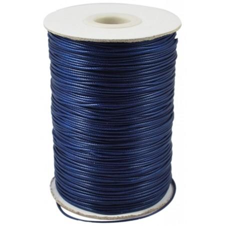 Fil polyester ciré bleu marine 1mm x 1m